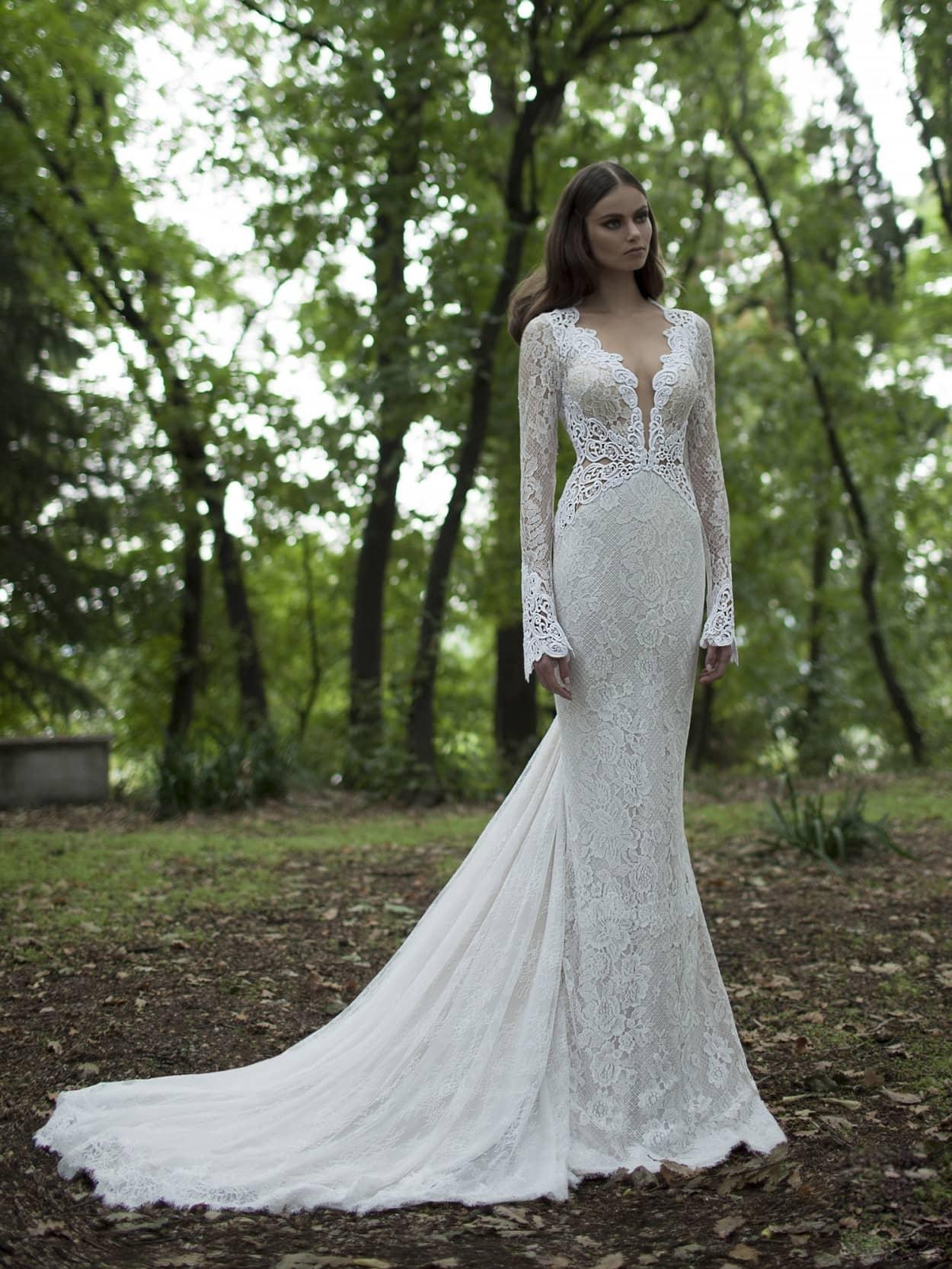 Кружевное свадебное платье Berta Bridal 1421 купить в ...