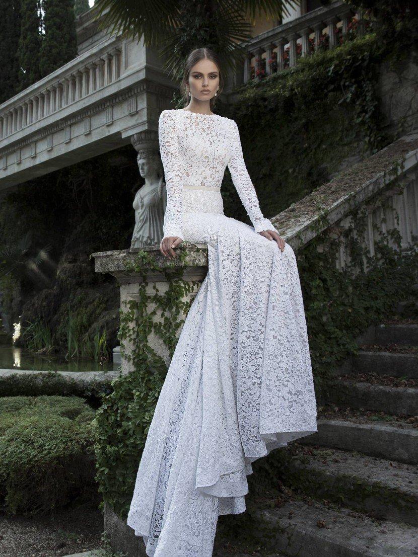 кружевное свадебное платье Berta Bridal 1426.