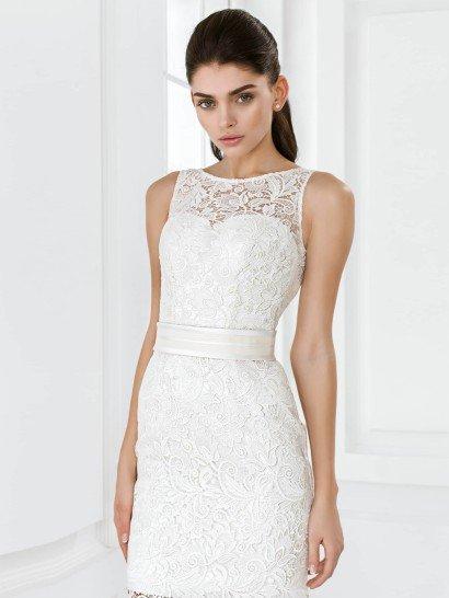 Cвадебное платье с короткой юбкой Роббин от Mio Dress 2015.