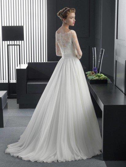 Романтичное свадебное платье А-силуэта 2015.