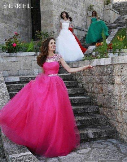 Розовое выпускное платье в пол.