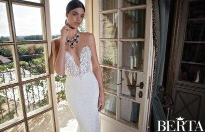 Прозрачное свадебное платье 1501 от Berta Bridal 2015.