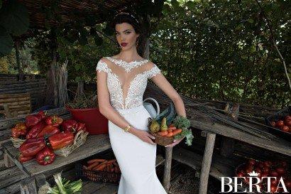 Прямое свадебное платье 1504 Berta Bridal.