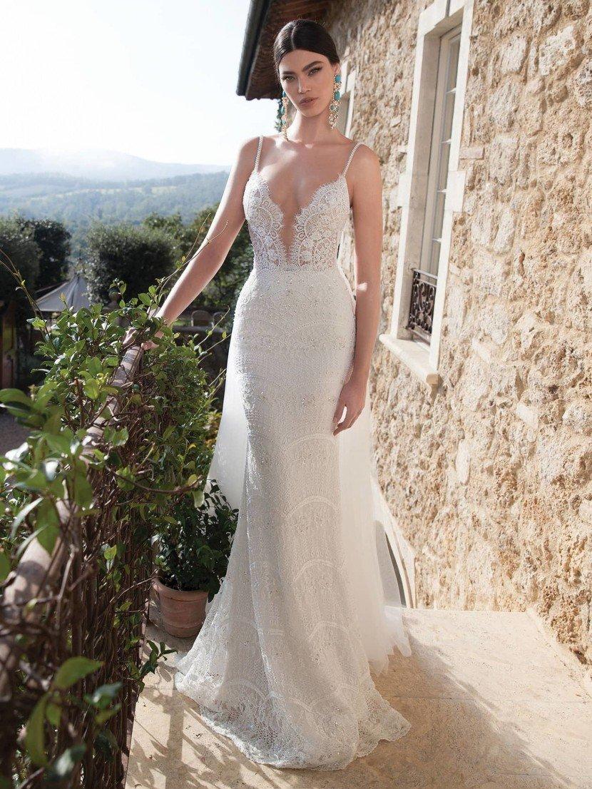 Прямое свадебное платье 1518 Berta Bridal 2015.
