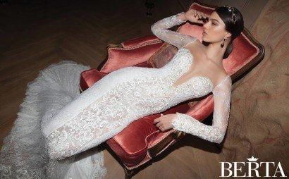 Кружевное свадебное платье 1527 Berta Bridal 2015.