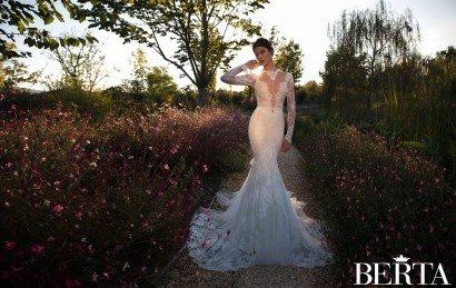 Кружевное свадебное платье 1528 Berta Bridal 2015.