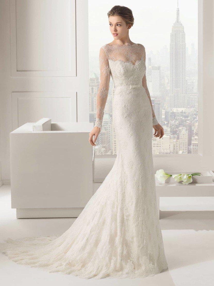 Дорогое облегающее свадебное платье Rosa Clara SANTAFE.