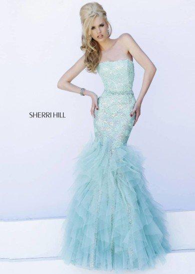 Вечернее платье русалка.