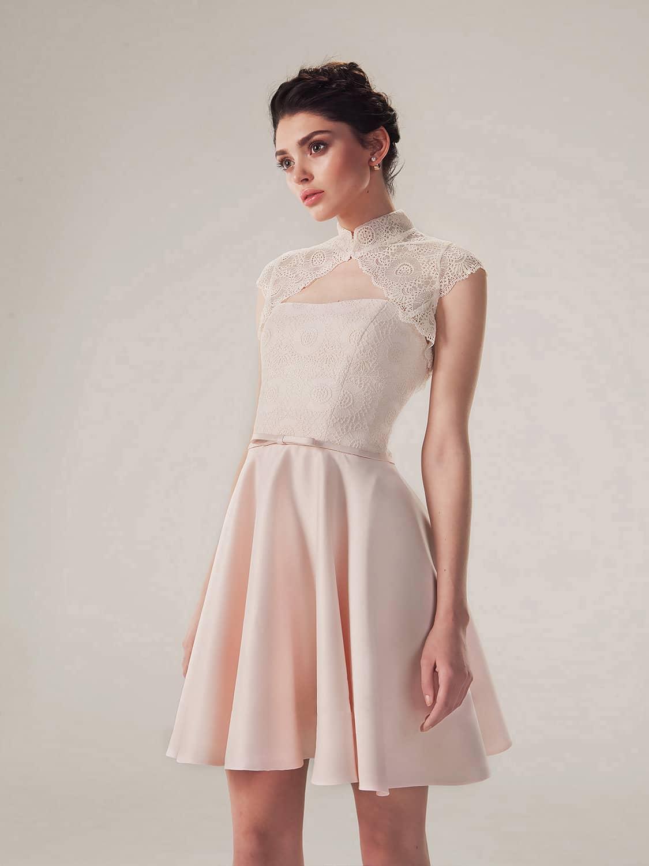 abcca34b1f9 Короткое розовое выпускное платье Эрика от MIO DRESS