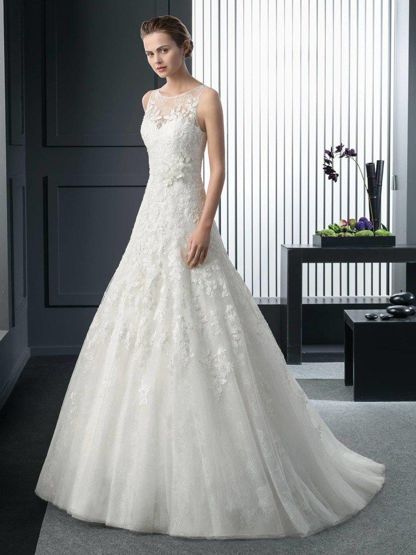 Свадебное платье-принцесса.