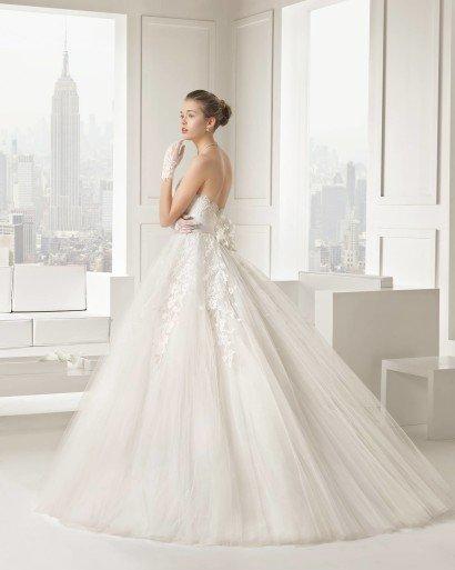 Пышное свадебное платье Rosa Clara 2016.