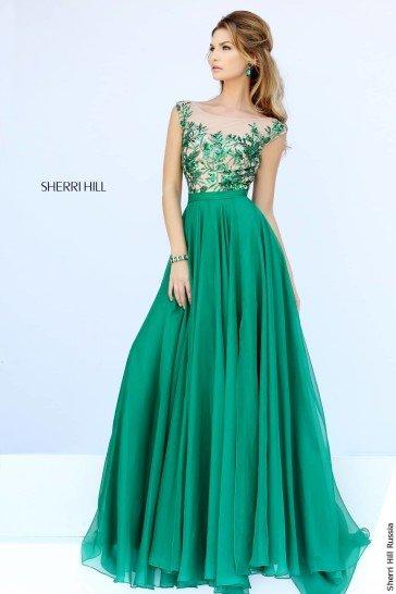 Зеленое платье на выпускной 2015.