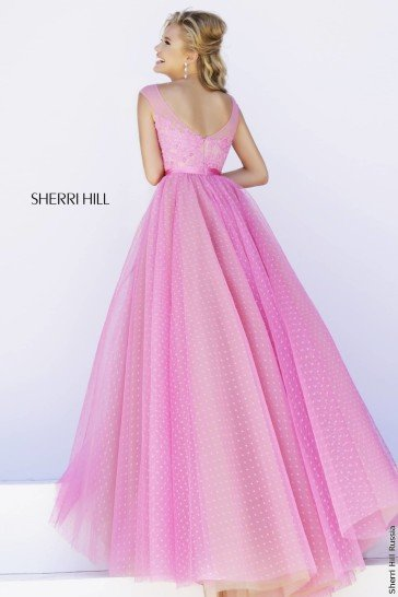 Розовое платье для выпускного 2015.
