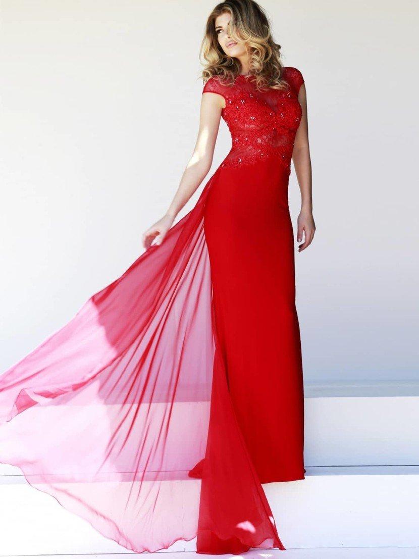 Красное выпускное платье Sherri Hill.