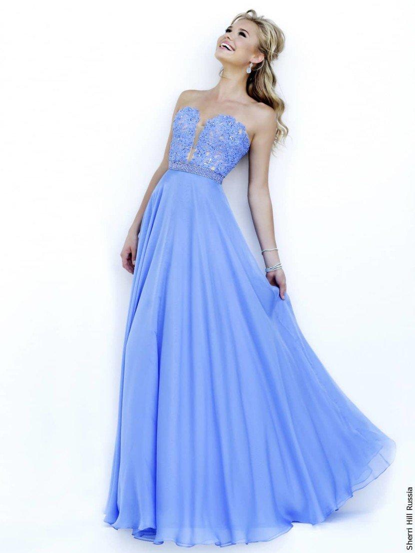 Стильное выпускное платье в пол.