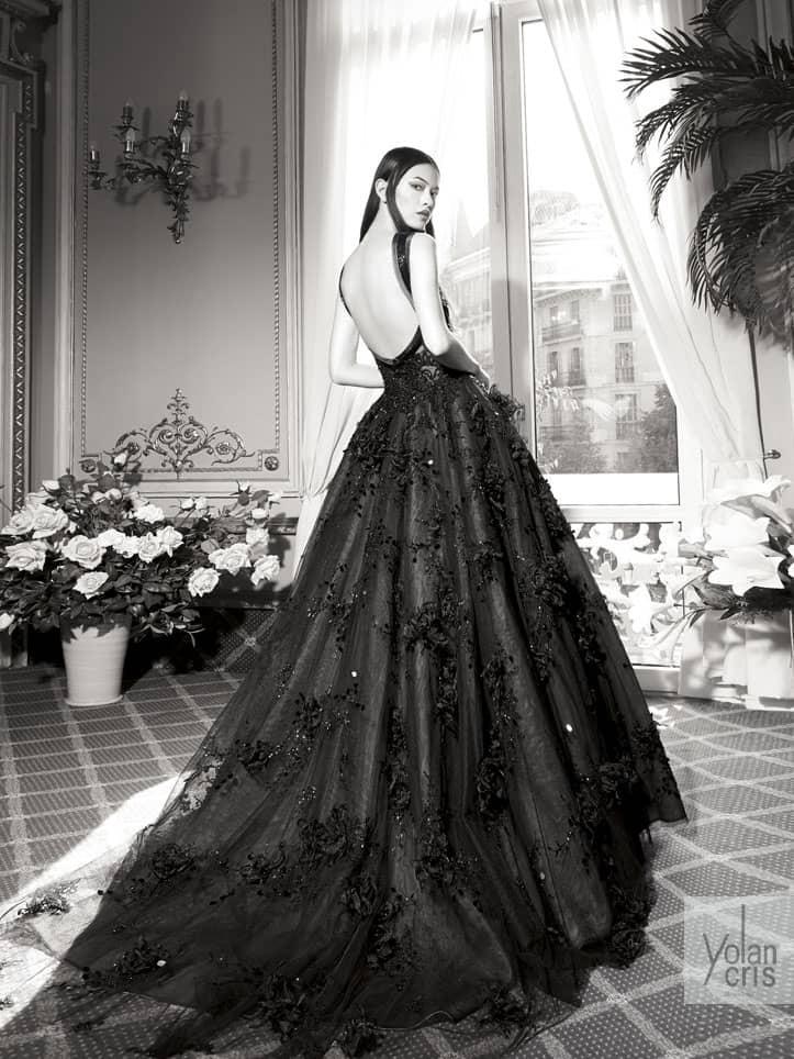 Черное вечернее платье Yolan Cris.