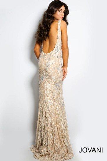 Светлое длинное вечернее платье на свадьбу 2015.