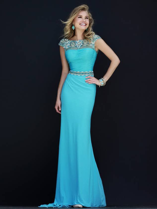 Платье на выпускной с поясом 2015.