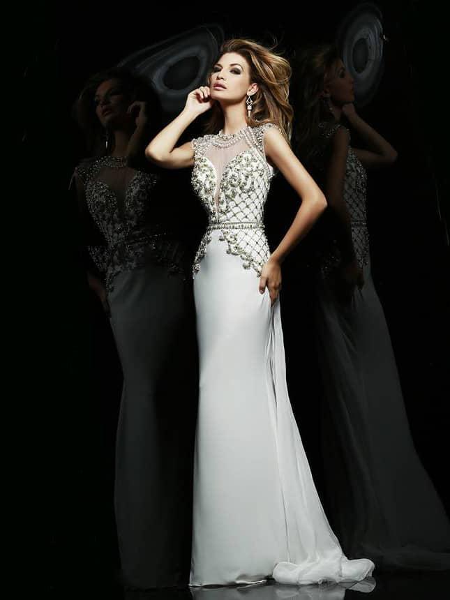 Светлое платье для выпускного 2015.