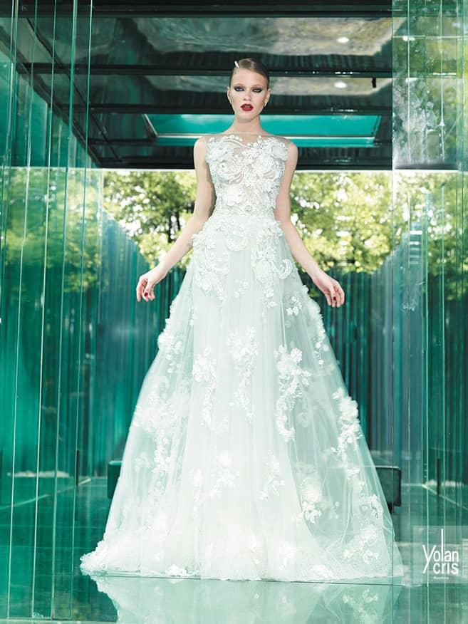 Стильное свадебное платье Yolan Cris.