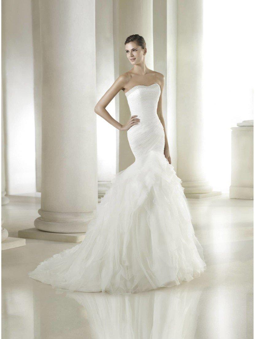 Узкое свадебное платье русалка.