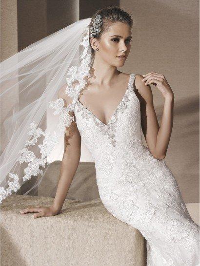 Свадебное платье стиля рыбка.