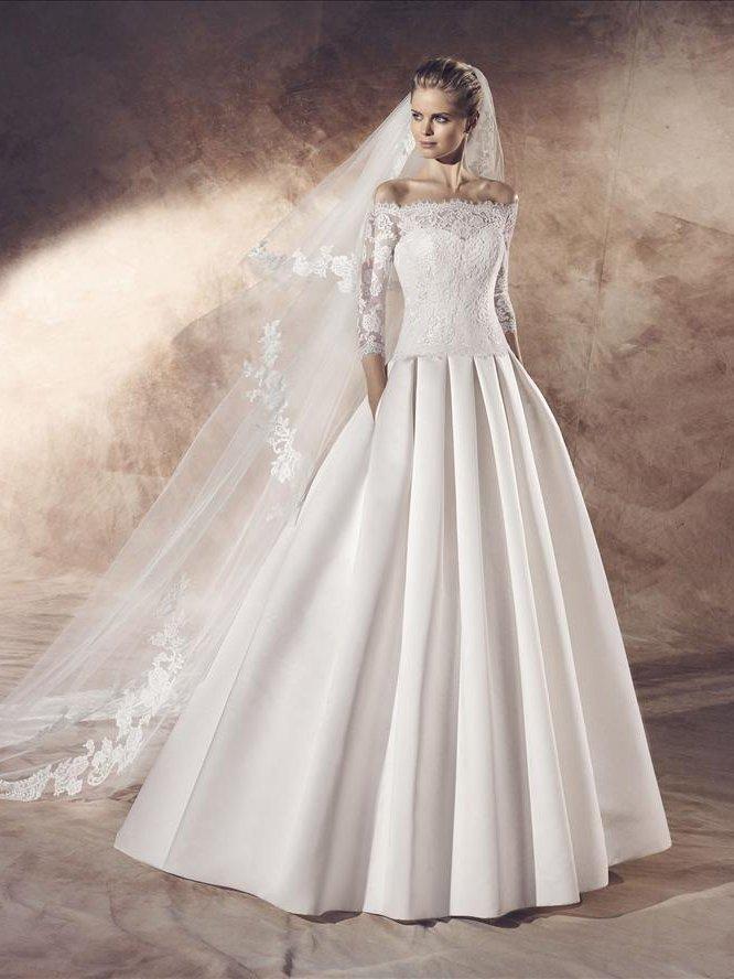 Свадебное платье - юбка со складками.