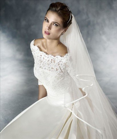 Роскошное свадебное платье А-силуэта 2016.