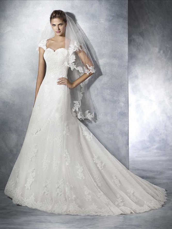 c35be2a1450 Свадебное недорогое платье с рукавами-крылышками JANINA by White One ...
