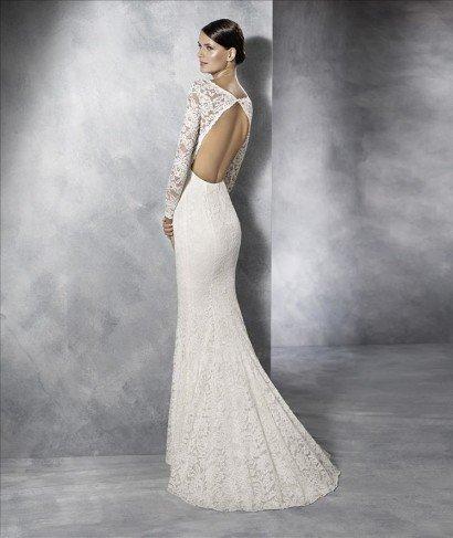 Кружевное свадебное платье рыбка.