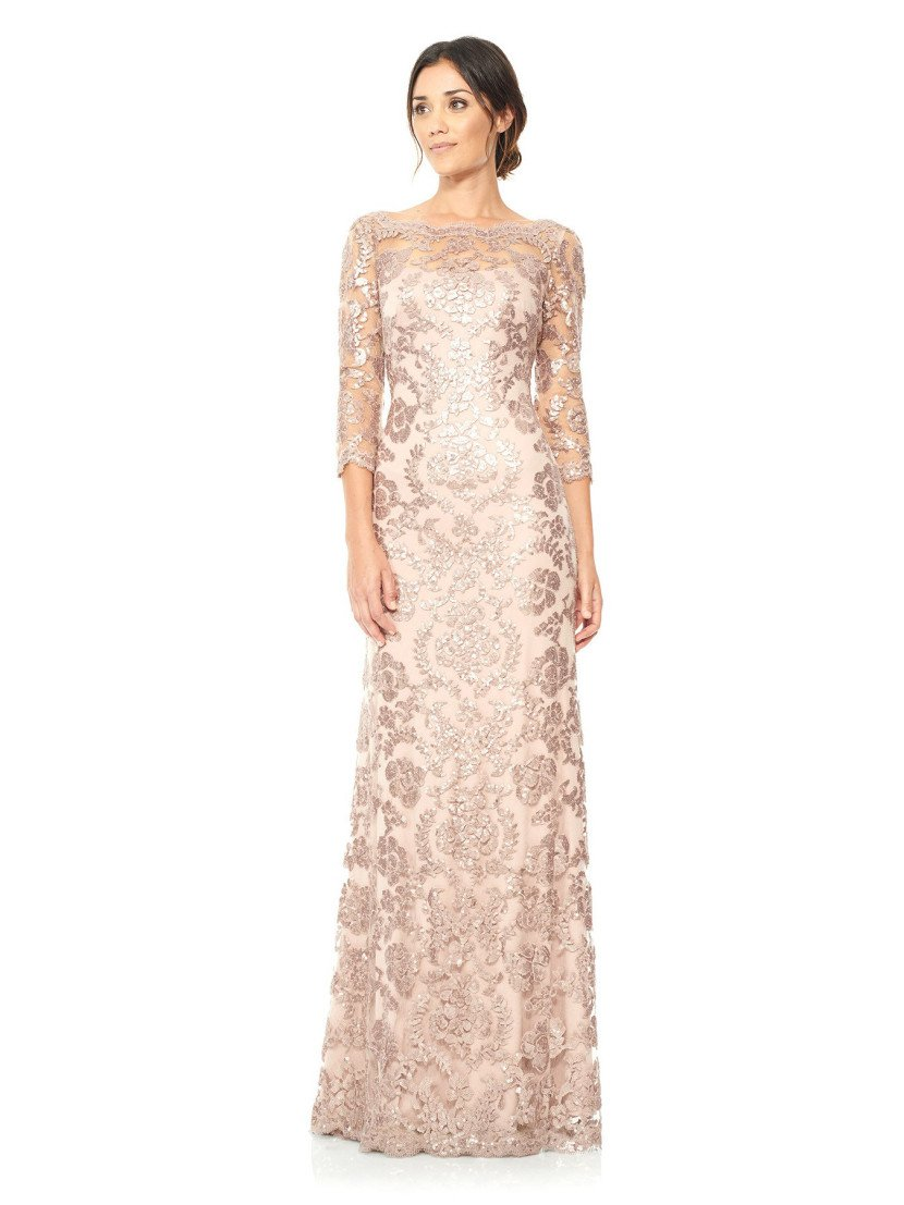 Платье вечернее в пол с рукавами.