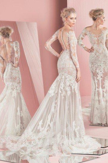 Элитное кружевное облегающее свадебное платье.