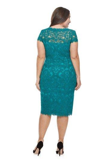 Потрясающее вечернее платье длиной до колена.