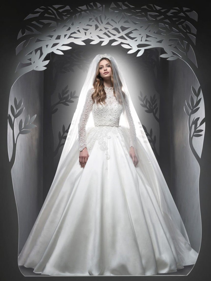 Пышное свадебное платье позволяет создать роскошный, незабываемый образ.