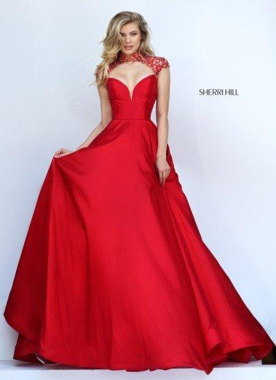 Красное шикарное платье на выпускной.