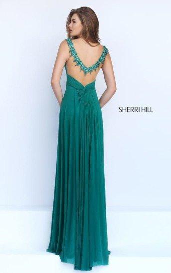 Зеленое платье на выпускной в греческом стиле.