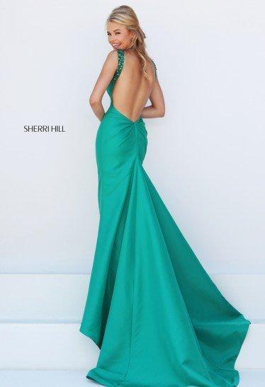 Зеленое платье русалка на выпускной.