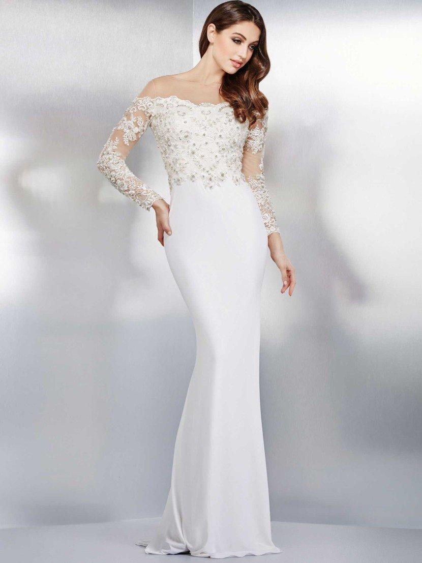 белое вечернее платье - подойдет в качестве свадебного.