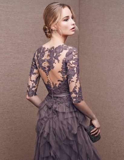 Элегантное вечернее платье с необычной юбкой.