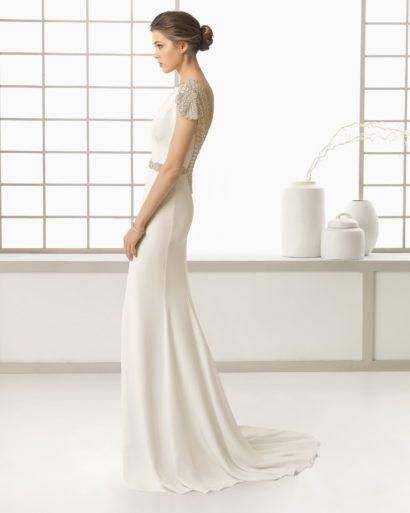Свадебное платье с прямым силуэтом 2016.
