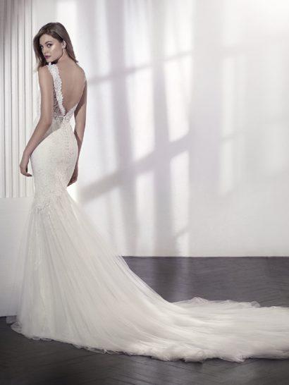 Свадебное платье «русалка» со съемной подкладкой и эффектной юбкой.