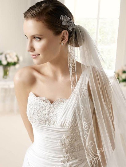 Недорогое свадебное платье.