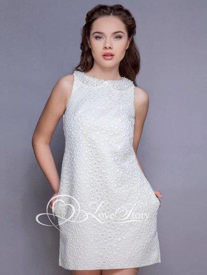 Очаровательное маленькое свадебное платье из ткани «шитьё» с крупным рисунком. ➌ Примерка и подгонка платьев   ✆ +7 495 627 62 42 ★ Салон Виктория Ⓜ Арбатская Ⓜ