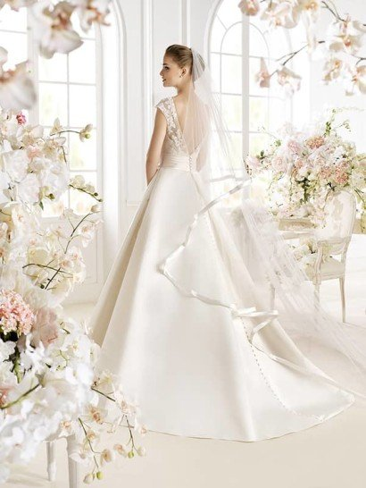 Свадебное платье А-силуэта PATRIZZIA by Avenue Diagonal.