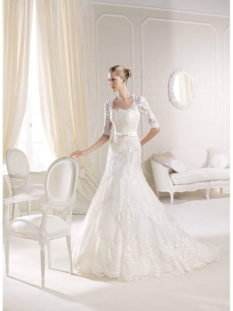 кружевное свадебное платье 2014 года