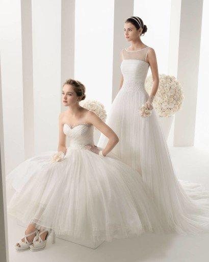 Короткое свадебное платье «чайной» длины из коллекции 2014 года