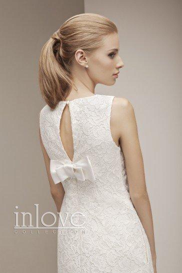 Кружевное короткое свадебное платье Твигги.