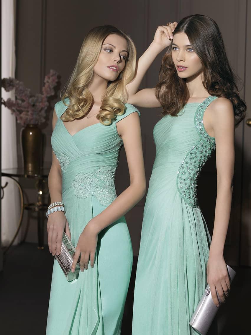 91d5ab5dcfe Вечернее платье нежного мятного цвета Rosa Clara 253 ✓ купить в ...