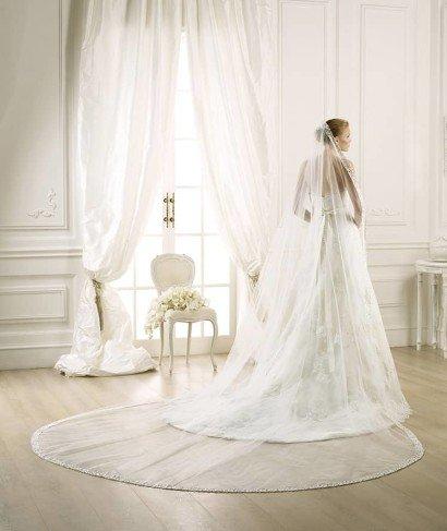 Прозрачная свадебная фата овальной формы ✆ +7 495 627 62 42 ★ Салон Виктория Ⓜ Арбатская Ⓜ Смоленская