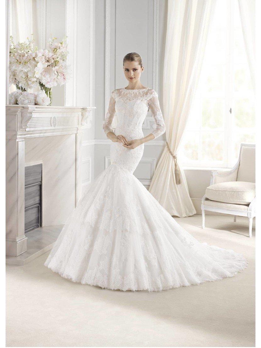 Свадебное платье с рукавами Eunice от La Sposa.